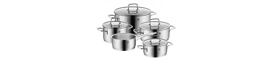 Ofertas en baterias de cocina de primera calidad - BlancoGris