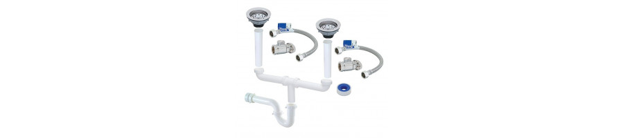 Ofertas en accesorios para instalación de fregaderos  - BlancoGris