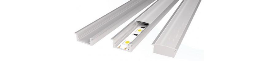 Ofertas en perfiles para instalación de tiras Led - BlancoGris